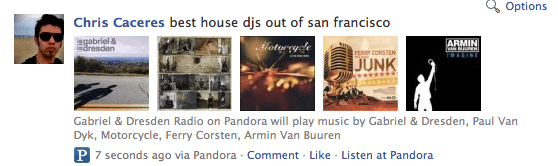 Pandora Integrates with Twitter & Facebook