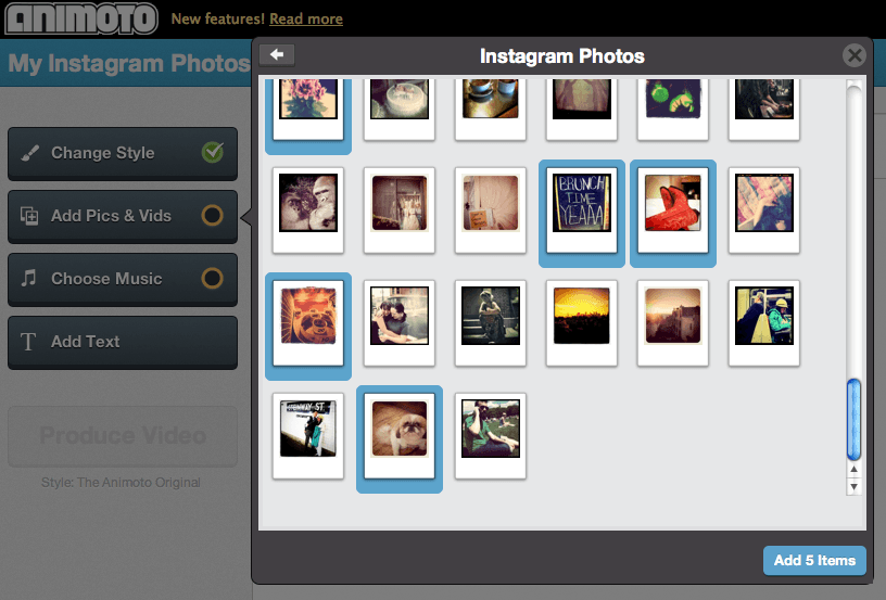 Instagram + Animoto = Two of my Favorite Toys!