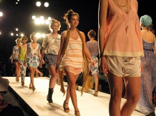Runway action at Clearwater Fashion and Arts week