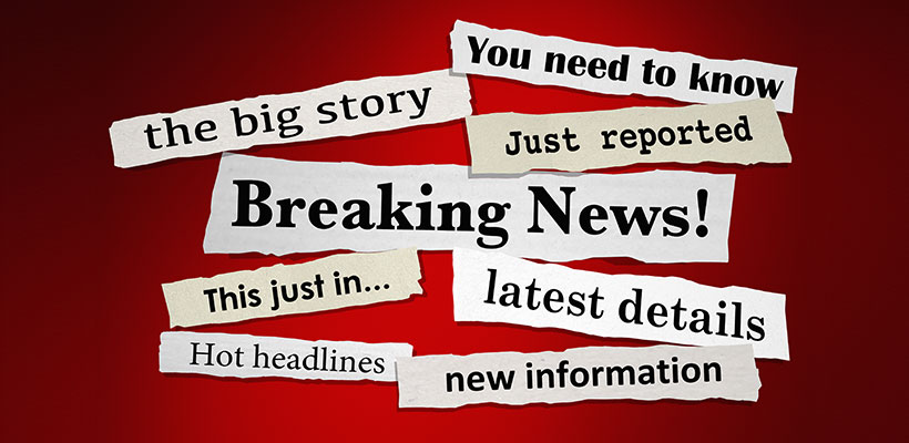 Breaking News Important Headlines Latest Updates