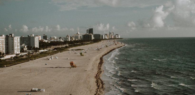 beach birds eye view